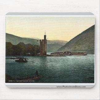 La torre del ratón, Bingen, el Rin, magnif de Alem Alfombrilla De Raton