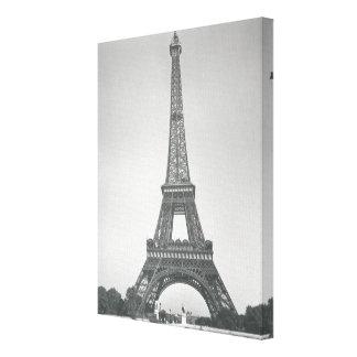 La torre Eiffel 1887-89 Impresión En Lona Estirada