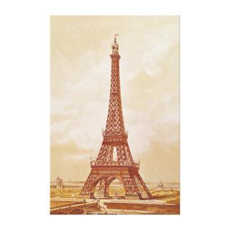 La torre Eiffel 1889 Impresiones En Lienzo Estiradas