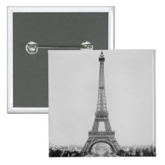 La torre Eiffel 2 Pin Cuadrado
