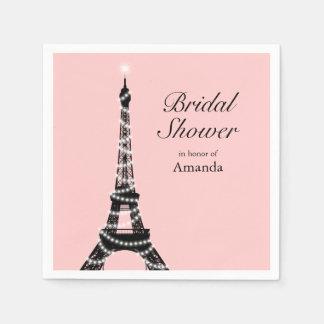 La torre Eiffel chispea servilleta Servilletas Desechables