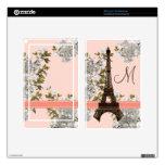 La torre Eiffel con monograma enciende la piel del Pegatinas Skins Para Kindle Fire