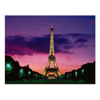 La torre Eiffel contra un cielo espectacular Tarjetas Postales
