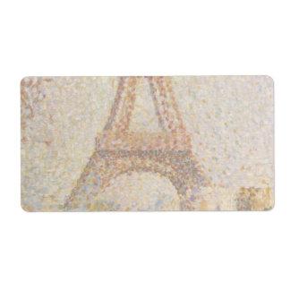 La torre Eiffel de Jorte Seurat Etiquetas De Envío
