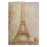 La torre Eiffel de Jorte Seurat Felicitación