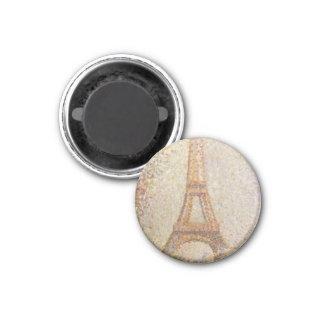 La torre Eiffel de Jorte Seurat Imán De Frigorifico
