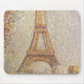La torre Eiffel de Jorte Seurat Alfombrillas De Ratón