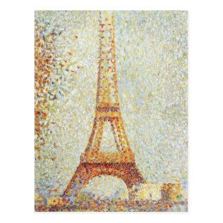 La torre Eiffel de Jorte Seurat Tarjetas Postales