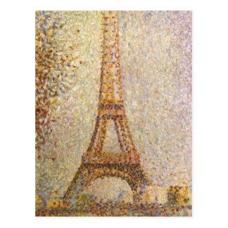 La torre Eiffel de Jorte Seurat Tarjeta Postal