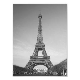 La torre Eiffel en la impresión de París Francia Fotografias
