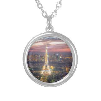 La torre Eiffel en la noche, París Francia Pendientes Personalizados