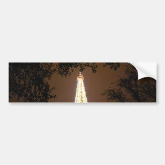 La torre Eiffel en la noche Pegatina Para Auto