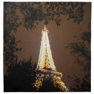 La torre Eiffel en la noche Servilleta