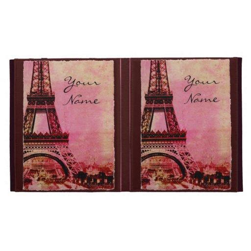 La torre Eiffel en la puesta del sol personalizó l