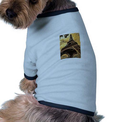 La torre Eiffel en París Francia Camiseta Con Mangas Para Perro