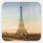 La torre Eiffel en París Pegatinas Cuadradas