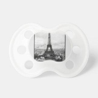 La torre Eiffel en París rayó el vintage Chupetes Para Bebés
