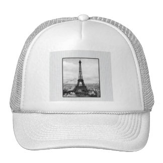 La torre Eiffel en París rayó el vintage Gorras De Camionero