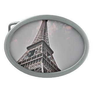 La torre Eiffel Hebilla Cinturón Oval