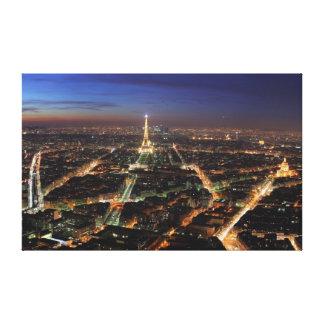 La torre Eiffel Lona Envuelta Para Galerías