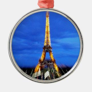 La torre Eiffel París Francia Adorno Navideño Redondo De Metal