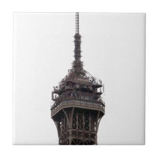La torre Eiffel París Francia Azulejo Cuadrado Pequeño