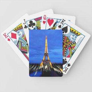 La torre Eiffel París Francia Baraja De Cartas Bicycle