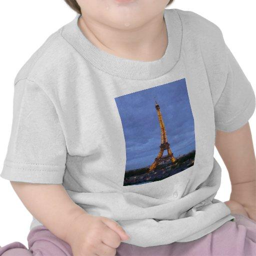 La torre Eiffel París Francia Camisetas