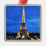 La torre Eiffel París Francia Ornamento Para Arbol De Navidad