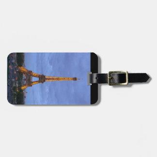 La torre Eiffel París Francia Etiquetas De Equipaje