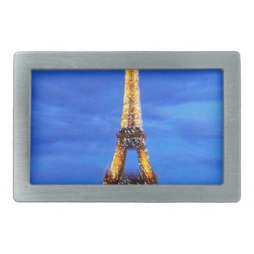 La torre Eiffel París Francia Hebilla Cinturon
