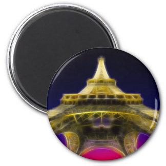 La torre Eiffel, París, Francia Imán Redondo 5 Cm