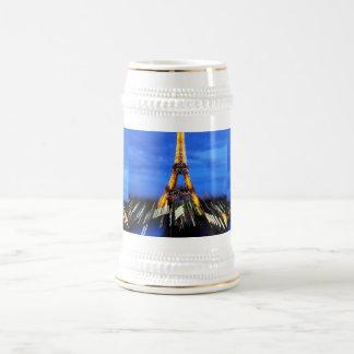 La torre Eiffel París Francia Jarra De Cerveza