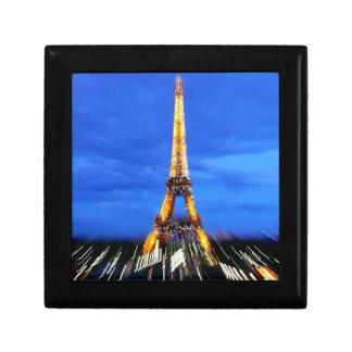La torre Eiffel París Francia Joyero Cuadrado Pequeño