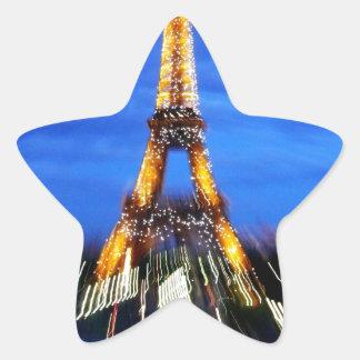 La torre Eiffel París Francia Colcomanias Forma De Estrella Personalizadas