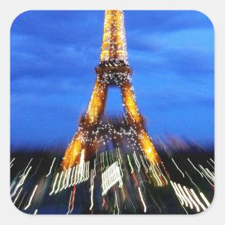 La torre Eiffel París Francia Pegatina Cuadrada