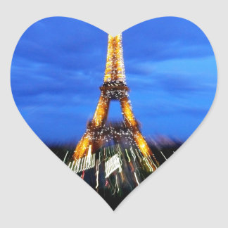 La torre Eiffel París Francia Pegatina En Forma De Corazón