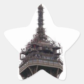 La torre Eiffel París Francia Pegatina En Forma De Estrella