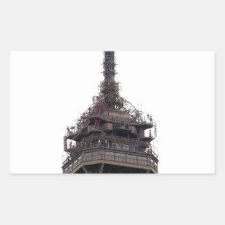 La torre Eiffel París Francia Pegatina Rectangular