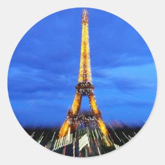 La torre Eiffel París Francia Pegatina Redonda