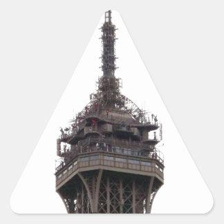 La torre Eiffel París Francia Pegatina Triangular