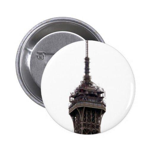 La torre Eiffel París Francia Pin Redondo 5 Cm