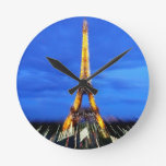 La torre Eiffel París Francia Reloj