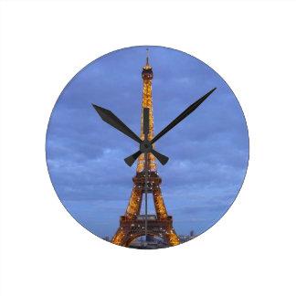 La torre Eiffel París Francia Reloj Redondo Mediano