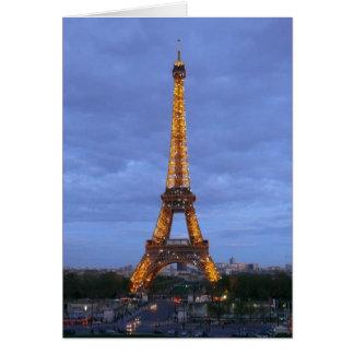 La torre Eiffel París Francia Tarjeta De Felicitación