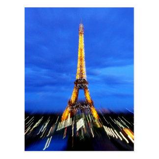 La torre Eiffel París Francia Tarjeta Postal