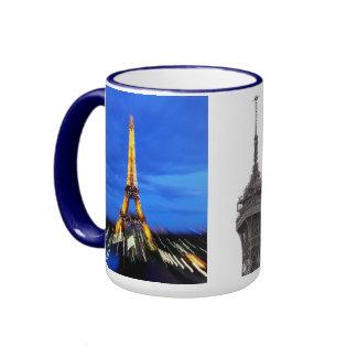 La torre Eiffel París Francia Taza A Dos Colores