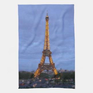 La torre Eiffel París Francia Toalla De Mano