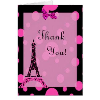 La torre Eiffel París le agradece observar Tarjeta De Felicitación