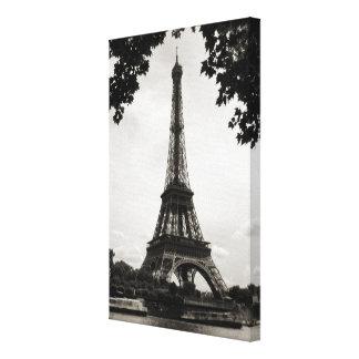 La torre Eiffel, París - lona envuelta Impresión En Lona